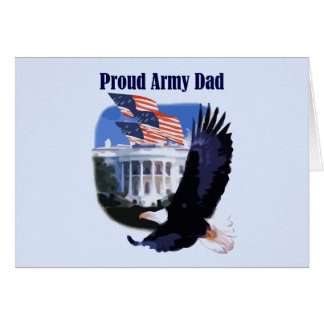 Armee-Vati-T-Shirts und Geschenke Eagles stolze Karte