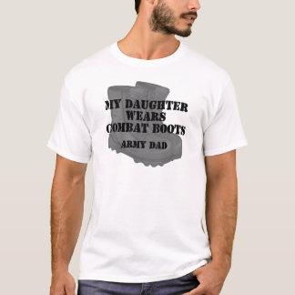 Armee-Vati-Tochter-Kampf-Stiefel T-Shirt
