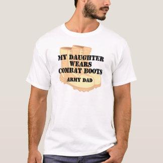 Armee-Vati-Tochter-Wüsten-Kampf-Stiefel T-Shirt