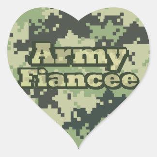 Armee-Verlobtes Herz-Aufkleber