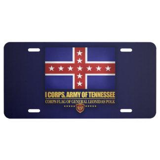 Armee von Tennesse (Polk) US Nummernschild