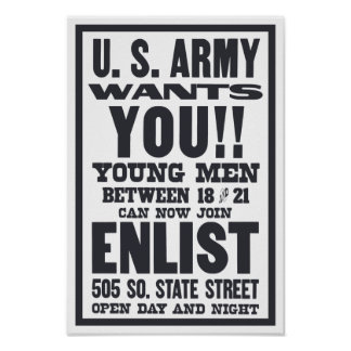 Armee will Sie -- WWI Poster