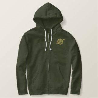 Armeegrüner WEVO gestickter Hoodie mit TAN-Logo