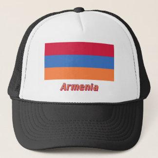 Armenien-Flagge mit Namen Truckerkappe
