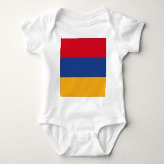 Armenische Flagge Baby Strampler