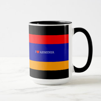 Armenische Flagge: I Liebe Armenien Tasse