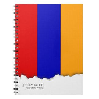 Armenische Flagge Spiral Notizblock