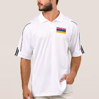 Armenische Flaggen-roter Streifen-Text Polo Shirt