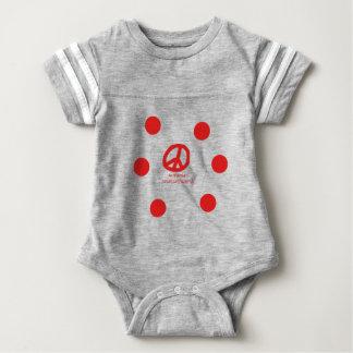 Armenische Sprache und Friedenssymbol-Entwurf Baby Strampler