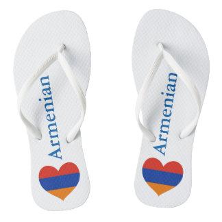 Armenische Strand-Sandalen des Herz-| Flip Flops