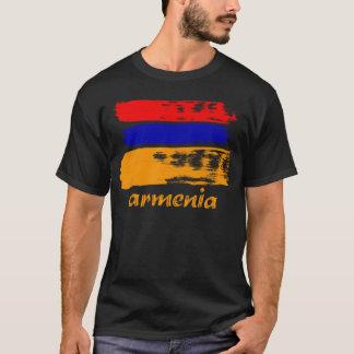 Armenischer Bürstenanschlag-Flaggenentwurf T-Shirt