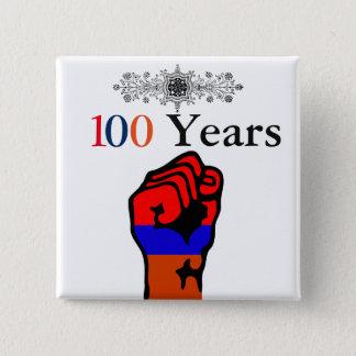 Armenischer Genozid-Knopf Quadratischer Button 5,1 Cm