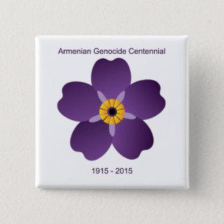 Armenisches Genozidcentennial-Emblem Quadratischer Button 5,1 Cm