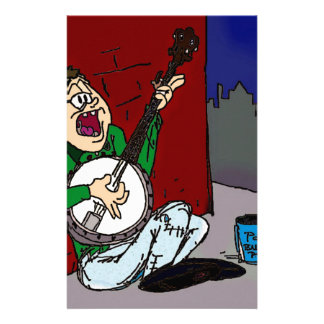 Armer Banjo-Spieler Individuelles Druckpapier