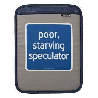 armer, verhungernder Spekulant iPad Sleeve
