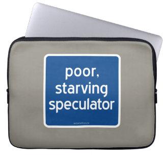 armer, verhungernder Spekulant Laptop Schutzhülle