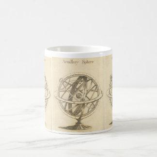 Armillary Bereich-Vorlagen-Skizze Kaffeetasse
