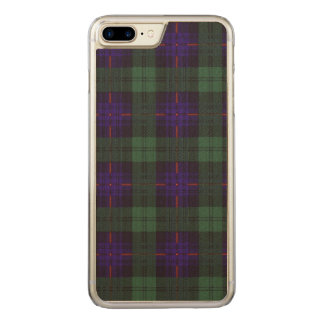 Armstrong-Clan karierter schottischer Tartan Carved iPhone 8 Plus/7 Plus Hülle