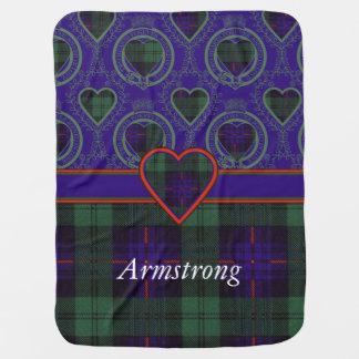 Armstrong-Clan karierter schottischer Tartan Kinderwagendecke