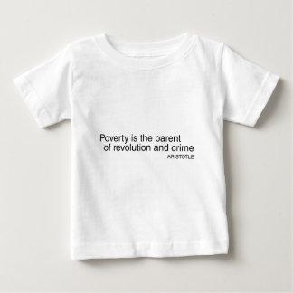 Armut ist das Elternteil Baby T-shirt
