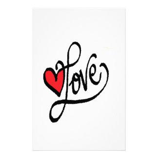 Arnabas Liebe mit Herzen Briefpapier