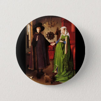 Arnolfini Porträt Runder Button 5,1 Cm
