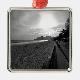 Arpoador Strand Rio de Janeiro Silbernes Ornament