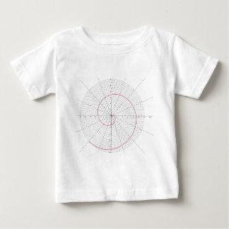 arquimedes espiral dextrogira baby t-shirt