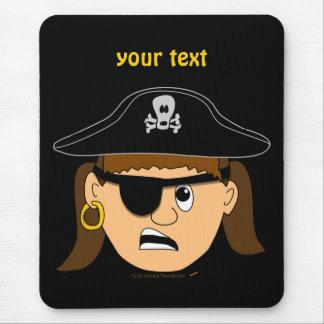 Arr Piraten-Mädchen-niedliches kundengerechtes Mauspad