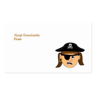Arr Piraten-Mädchen-niedliches kundengerechtes Visitenkarten Vorlagen