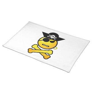 ARRGH! Smiley - GRR Emoticon-Pirat Stofftischset