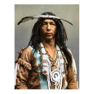 Arrowmaker ein Vintager Inder des Ojibwa-Brave1903 Postkarte