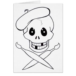 Arrrrtist Pirat (Totenkopf mit gekreuzter Knochen) Karte
