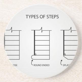Art der Schritte für Treppenentwurf Untersetzer
