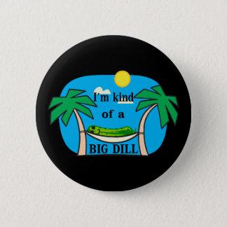 Art einer großen Dillgurke Runder Button 5,7 Cm