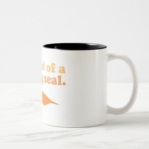 Art eines großen Siegels Kaffee Tasse