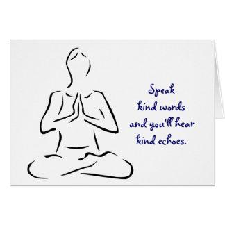 Art fasst Yoga-Pose ab Karte