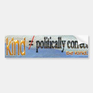 Art gegen politisch korrekten Autoaufkleber