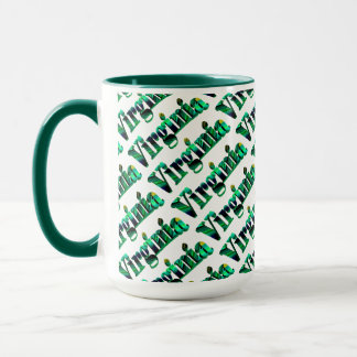 Art-Kaffee-Tasse Virginias grüne Tasse