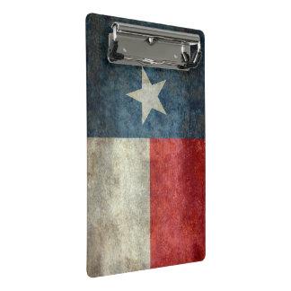 Art-Klippbrett der Texas-Staatsflagge Vintages Mini Klemmbrett