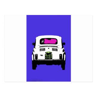 Art-Popkunst Fiat 500 in Rom Postkarte