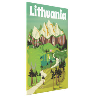 Art-Reiseplakat Litauens Vintages Leinwanddruck