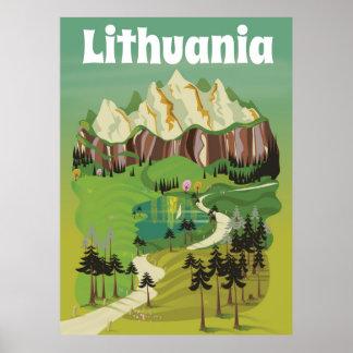 Art-Reiseplakat Litauens Vintages Poster