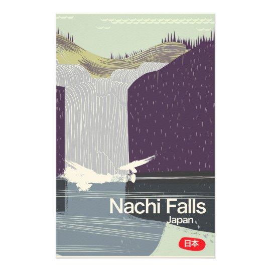 Art-Reiseplakat Nachi Fall-Japans Vintages Personalisiertes Druckpapier