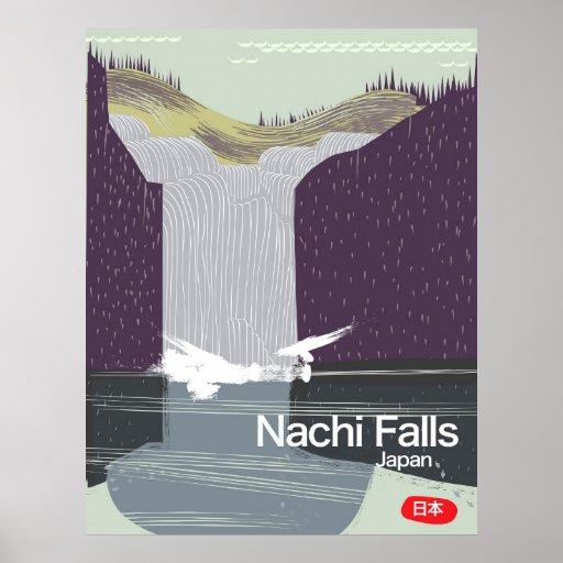 Art-Reiseplakat Nachi Fall-Japans Vintages Poster