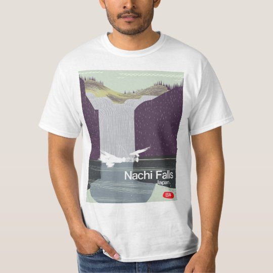 Art-Reiseplakat Nachi Fall-Japans Vintages T-Shirt