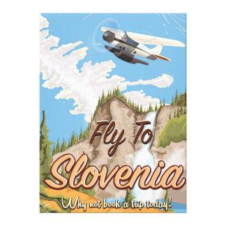Art-Reiseplakat Sloweniens Vintages Leinwanddruck