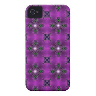 Artdeco in Retro Style grün blau lila und sterne iPhone 4 Case-Mate Hülle