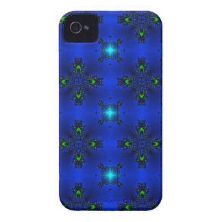 Artdeco in Retro Style grün blau und sternchen iPhone 4 Cover