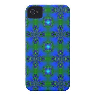 Artdeco in Retro Style grün blau und sterne iPhone 4 Hülle